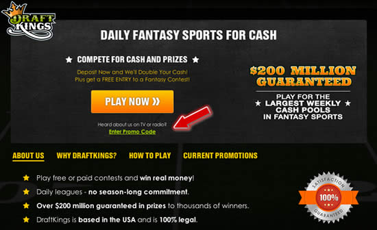 DraftKings Home Page